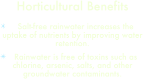 Horticultural Benefits
